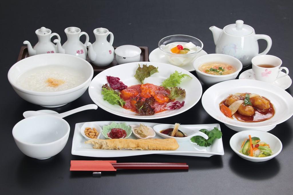 中華粥ランチ 一例